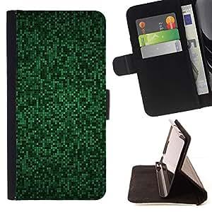 For Samsung Galaxy S4 Mini i9190 (NOT S4) Case , Patrón ordenador Azulejos Ciber Hack- la tarjeta de Crédito Slots PU Funda de cuero Monedero caso cubierta de piel