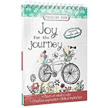 Joy for the Journey by Amylee Weeks Wirebound Coloring Book: 50 wire-bound coloring sheets by Amylee Weeks, Includes gift tags and cards to color, Bible Scripture and Christian content with presentation page for gift giving