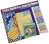 mosaic sticker by number - Melissa & Doug Peel and Press Sticker by Number Tropical Fish Sparkle Mosaic