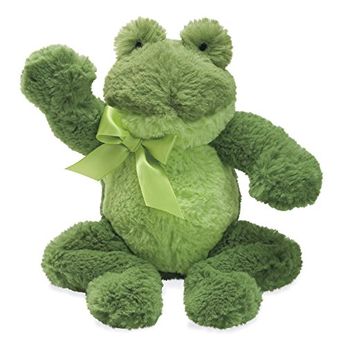 North American Bear Company Mammas and Babies Rattle, Frog (Silky Plush Frog)