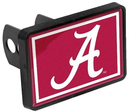 Alabama Crimson Tide A Universal 1-1/4 x 2 Inch Hitch Cover Fits 2 Inch Auto Car Truck (Alabama Hitch Cover)