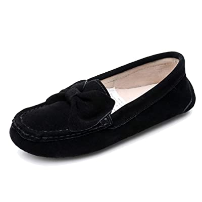 Real Fancy Women's Suede Moccasins Slippers Casual Driving Loafers Slip on Flat Shoes | Slippers
