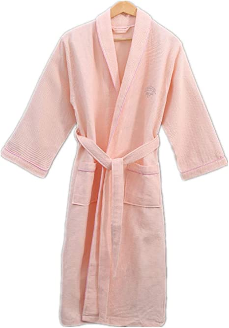 ABirdon Mujeres Kimono Batas Algod/ón Ligero Bata Corta Tejido Albornoz Ropa de Dormir Suave con Cuello en V para ba/ño SPA