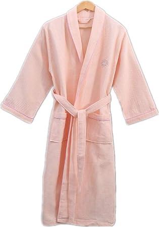 Mujeres Kimono Batas Algodón Ligero Bata Corta Tejido Albornoz Ropa de Dormir Suave con Cuello en V para baño,Inicio Albornoz Albornoz Rosa S: Amazon.es: Hogar