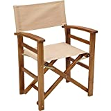 Acacia Wood Folding Director's Chair — Natural Review