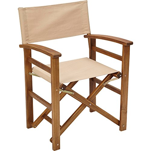 Acacia Wood Folding Director's Chair — Natural
