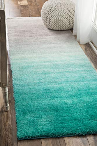 nuLOOM HJOS02A Hand Tufted Ombre Shag Runner Rug, 2' 6