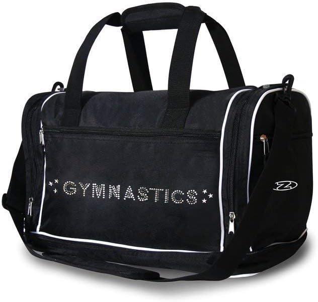 ZONE GYMNASTIC BAG GYMNASTIC HOLDALL WITH DIAMANTE MOTIF GYM KIT BAG