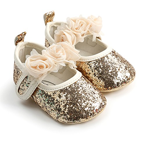 5f71f91f52cc Bebila Baby Girls Sandals Mary Jane Ankle Strap Soft Soled Summer Baby  Moccasins Toddler Crib Shoes (11cm(0-6months)