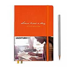 "Leuchtturm1917 Some Lines A Day 5 Year Memory Book Journal - Medium (A5) 5.71"" x 8.27"" - Orange"