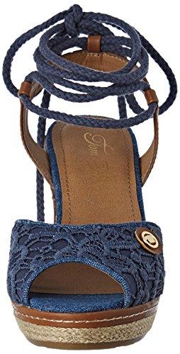 Sandales Tom Bride jeans Bleu Cheville 2790809 Tailor Femme EBwqBp1