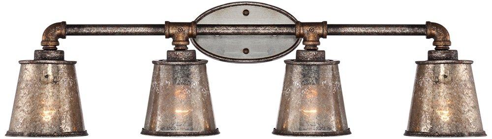 Fillmore 31 3/4'' Wide Industrial Rust Bathroom Light