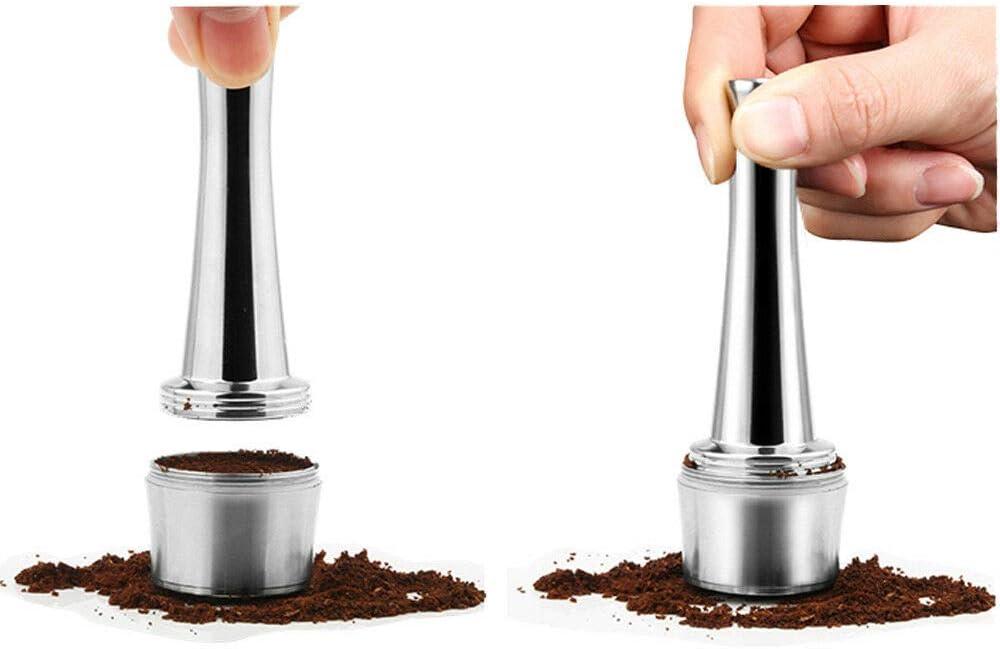 Tamper di Caff/è Pressino per Caff/è Caff/è manomissione della macchina in acciaio inox piatto base Espresso Tamper Accessori pressione da cucina Tamper di Caff/è per macchina Lavazza- 30mm