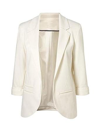 gros remise pour toute la famille découvrir les dernières tendances Minetom Femme Élégant Blazer à Manches Longues Slim Fit OL Veste De Costume  Basique Ajusté Manteau Cardigan Blouson Jacket