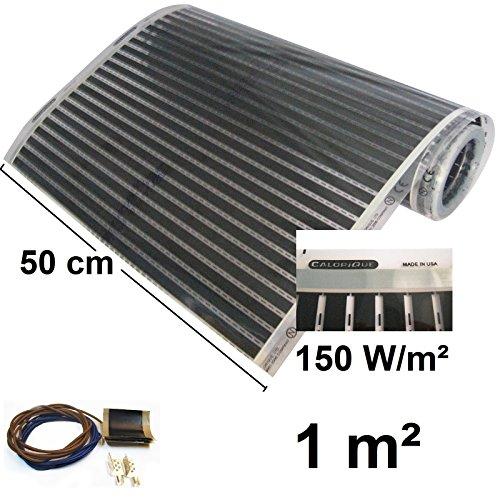 Fußbodenheizung Infrarot Heizfolie 50 cm Heizung Set 150W/m2-1,0m2
