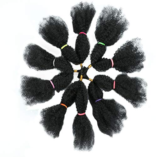 Curly Crochet Hair Bulk Kanekalon Braiding Hair 18inch 110g Kinky Twist Crochet Natural Black Afro Kinky Twists Crochet Hair Extensions Synthetic Hair Extensions Afro Kinky Bulk Synthetic Hair