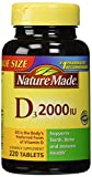 Nature Made Vitamin D3 2000 IU, Value Size, 220-Count (Pack of 2) For Sale