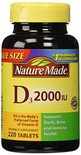 Nature Made Vitamin D3 2000 IU, Value Size, 220-Count (Pack of 2)