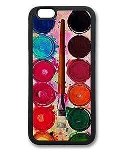 iCustomonline Fine Art Paint Color Box & Funny Artist Brush Design Case for iPhone 6 4.7 inch TPU Black