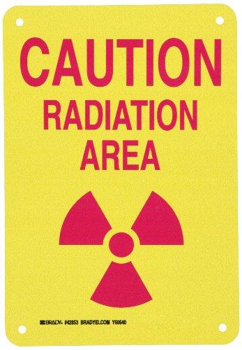 Brady 42853 Aluminum Radiation & Laser Sign, 10