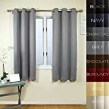 Prestige Home Fashion Thermal Insulated Blackout Curtain – Antique Bronze Grommet Top – Grey – 38″W x 63″L, 1 Panel Review