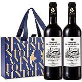 【法国原瓶进口红酒】波尔多AOC级 圣亚当伯爵干红葡萄酒 双支礼盒 750ml*2