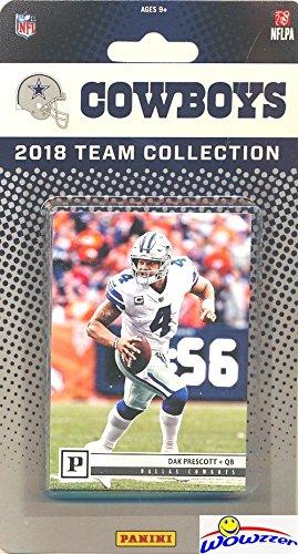 Dallas Cowboys 2018 Panini NFL Football Factory Sealed Limited Edition 17 Card Complete Team Set Dak Prescott, Ezekiel Elliott,Cole Beasley,Jason Witten & Many More! WOWZZER! ()