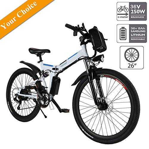Aceshin 26'' Electric Folding Mountain Bike with Removable Large Capacity Lithium-Ion Battery (36V...
