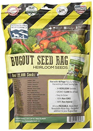 22,000 Non GMO Heirloom Vegetable Seeds, Survival Garden, Emergency Seed Vault, 33 VAR, Bug Out Bag - Beet, Broccoli, Carrot, Corn, Basil, Pumpkin, Radish, Tomato, More