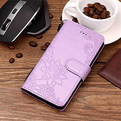 5bcad2953 Qiaogle Teléfono Case para Motorola Moto E5 Play - Funda de PU Cuero  Billetera Clamshell Carcasa Cover - YH97 / Mandala (Púrpura). Cargando  imágenes.