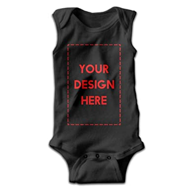 ff46a1f67 Custom Baby Sleeveless Bodysuits Add Personalized Message Picture Unisex  Cute Lap Shoulder Onesies