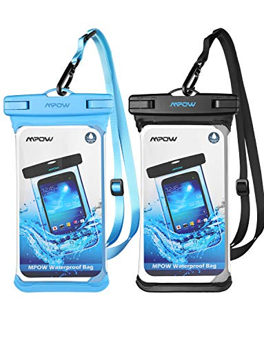 Mpow Waterproof Case, Waterproof Cellphone Dry Bag Full Transparency IPX8 Universal Phone Pouch Compatible for iPhone Xs Max/XS/XR/X/8, Galaxy S10/S10 Plus/S10e/S9, Note 9, Google up to 6.5