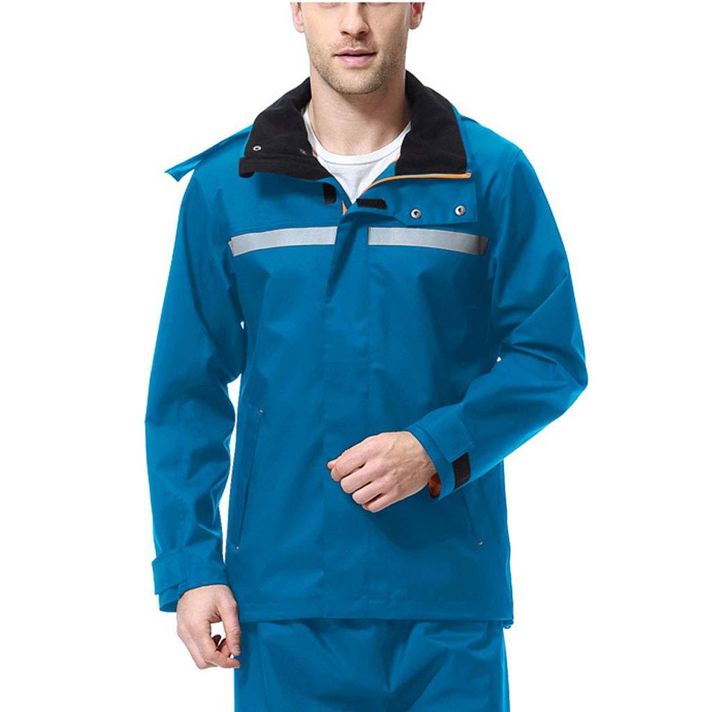 lumière bleu Medium ZYMNL-YY VêteHommests de Pluie Doubles en Plein air, imperméable portatif imperméable VêteHommests de Pluie pour Hommes et Femmes de Mode Costume de Pluie imperméable à l'eau