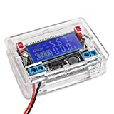 DROK DC-DC Adjustable 3A Buck Voltage Converter Stabilizer Step Down Voltage Reducer Regulator Power Module with Protective Shell 5-23V to 0-16.5V Dual Volt Amp LCD Display
