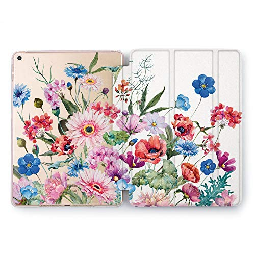 64412731e7eb01 Wonder Wild iPad Cover Pro 9.7 inch Rose Gold Flowers Pattern mini 1 2 3 4  Floral Crown Print Air 2 10.5 12.9 Apple Unique Wildflower Field Daisy  Cornflower ...