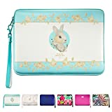 """Mac Book Air Case 13"""" , ESR You-nique Series Cushion Sleeve Case with 2 Way Open End Zipper [Shock&Moisture-Proof][Scratch Resistant] [Exquisite stitching line] for MacBook Air 13 Inch (Alice Bunny)"""