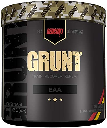 Redcon1 Grunt, EAAs, 30 Servings, Recovery Supplement Tigers Blood