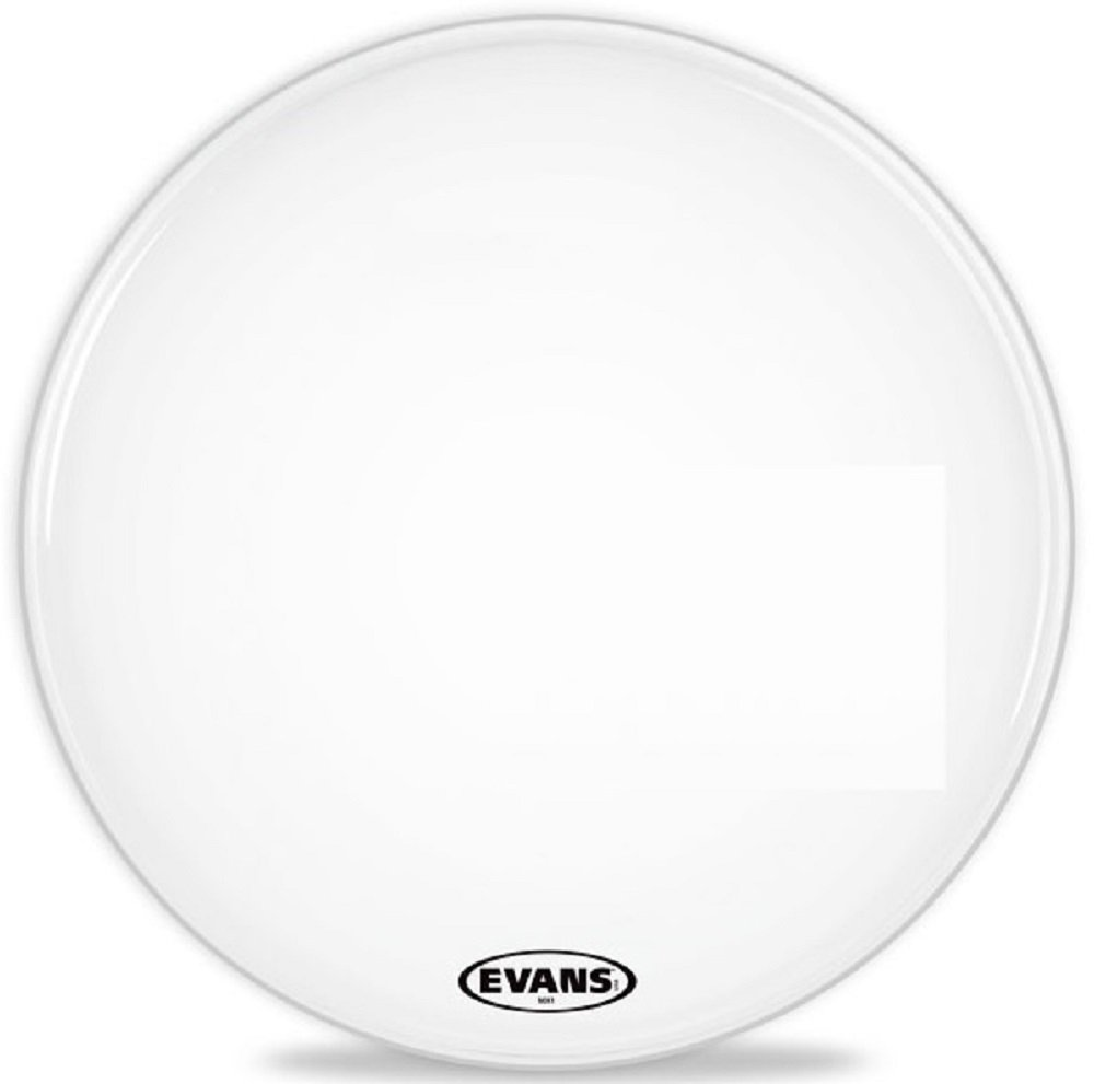 Evans MX1 White Marching Bass Drum Head, 24 Inch Evans Heads BD24MX1W