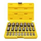 Topec 25Pcs Screw Extractor Set, Hex Head