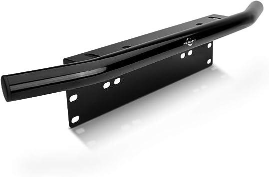 Black Duty Offroad Bumper License Plate Mounting Bracket LED Fog Light Accessory