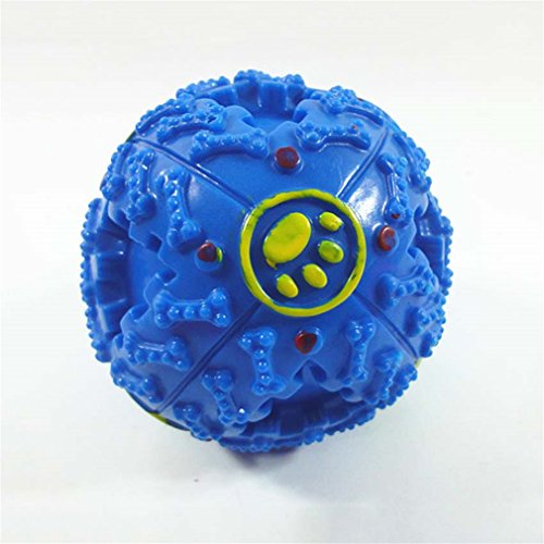 LLOVELY Bite Resistance Cat Toys Dog Games For Dogs Brinquedos Frisbee Dog Ball Puppy Toy Blue 75mm