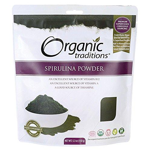 Spirulina Powder 5.3 Ounce (150 grams) Pkg by Organic Traditions