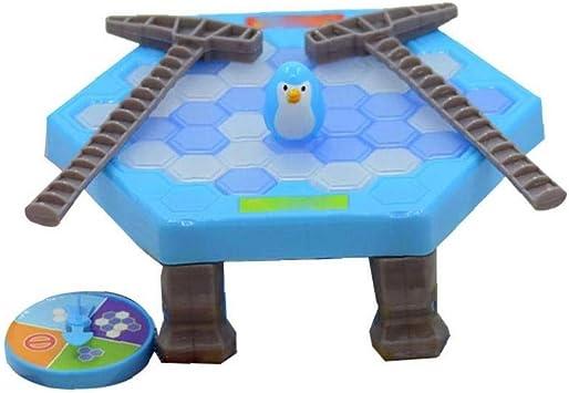 Puzzle creativo Juego de Mesa Guardar rompehielos golpe del pingüino del juguete del golpe del cubo de hielo juguete divertido juguetes para los niños de grasa Tipo pingüino: Amazon.es: Juguetes y juegos