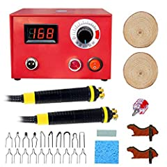 "This Wood Burning Machine Kit has multiple nibs(20 tips) to make fine lines or various styles of shading and the temperature control allows you to create finer details without blobs. If you are a beginner or a serious ""woodburner"" you need th..."