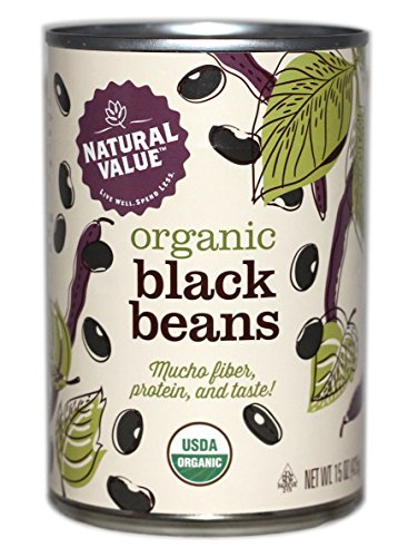 Natural Value Organic Black Beans, 15 Ounce (Pack of ()