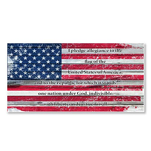 IT'S A SKIN Pledge of Allegiance Distressed US Flag | Vinyl Sticker Decal for Laptop Tumbler Car Notebook Window or Wall | Funny Novelty Decal