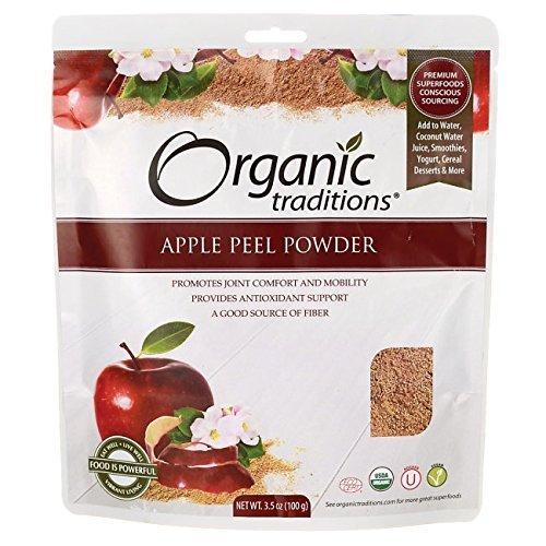 - Organic Traditions Apple Peel Powder 3.5 oz (100 grams) Pkg by Organic Traditions