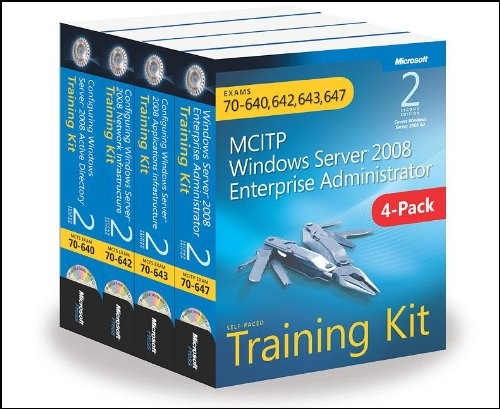 MCITP Windows Server 2008 Enterprise Administrator Training Kit 4-Pack (2nd Edition): Exams 70-640, 70-642, 70-643, 70-6