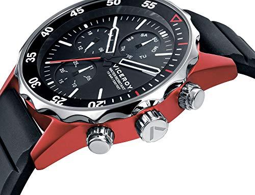 Viceroy herr kronograf kvartsklocka med silikonrem 471159-57