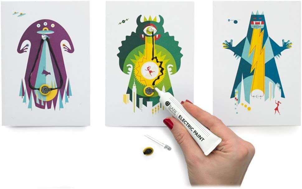 Bare Conductive Flashing Card Set Conductive Encounters